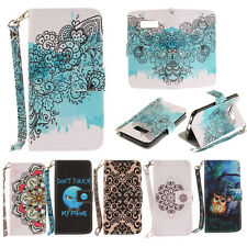 Luxury Wallet Leather Magnet Pattern Flip Case Cover For Samsung S8 S6 Note 8 S7
