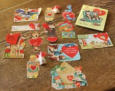 "Vintage 13 Valentines 1950's 1 3/4"" to 6"" Tall"