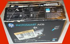 Hp Photosmart A636 Printer~150+ Pieces Photo Paper~Box~Manuals~Very Good