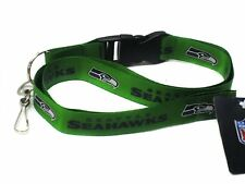 Holder Detachable Lanyard-Brand New! Seahawks Green Licensed Nfl Keychain/Id