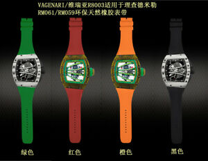 New VAGENARI R8003 Strap For Richard Mille RM061/RM059 Natural Rubber Watchband