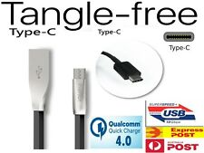 USB-C TANGLE FREE Type-C Data Charger Cable for SAMSUNG S8 S9 Note9 Google Pixel