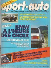 SPORT AUTO 284 1985 BMW HARTGE H35-24 330CH GP ALLEMAGNE AUTRICHE HOLLANDE