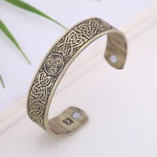 Celtic Knots Cuff Bracelet Antique Bronze Cuff Bangle Bracelet Arm Ring Magnetic