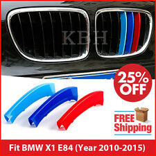 M-Tech Kidney Grill Grille 3 Color Cover Stripes Clips for BMW X1 E84 2010-2015