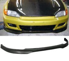 HONDA CIVIC EG 92-95 2-3DR TYPE R FRONT BUMPER LIP SPLITTER PU PLASTIC BLACK