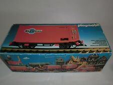 Playmobil 4113 Eisenbahn Güterwaggon Zug Container orange Eurotrans OVP V1