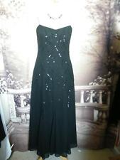 Roman Long Dress/Ballgown size 16 Black Evening Cocktail Prom Beaded/Sequin