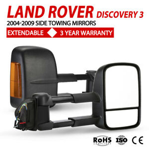 Pair Extendable Towing Mirrors For Land rover discovery 3 2004-2009 Indicator