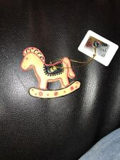 Chicago Blackhawks NHL Rocking Horse Ornament