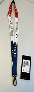 New Oakley Texas Lanyard ID Badge Holder Key Ring Chain Neck Strap Rare Display