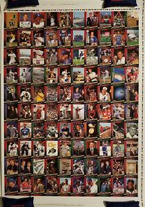 2009 UD 20th Anniversary Uncut Sheet 8x MICHAEL JORDAN Derek Jeter WAYNE GRETZKY