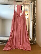 New Women's Coral Color Sundress Size L so CUTE!