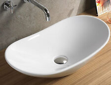Bathroom White Ceramic Porcelain Vessel Vanity Sink + *FREE Pop Up Drain*7811A