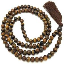 6MM Tiger's-eye Necklace 108 Beads Tassels Mala Spirituality Buddhism Energy