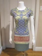 EUC Clover Canyon short sleeve sheath dress w/ multi-color floral design Sz S