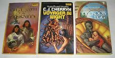 C J Cherryh lot of 3 science fiction PBs the complete Age of Exploration trilogy