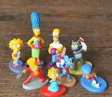 "The Simpsons 8pc Set Action Figurines Birthday Cake Topper 1""-2"""