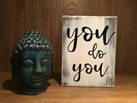 Rustic Wood Sign YOU DO YOU, inspirational, chic, farmhouse style, home decor