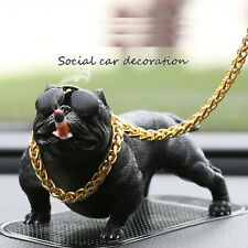 Creative Bulldog Dog Statue Resin Bully Figurine Home Car Decoration Toy Gift
