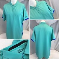 Nike Golf Tour Perf Polo Shirt L Mint Dri-Fit Poly Lycra NWOT YGI C9-182