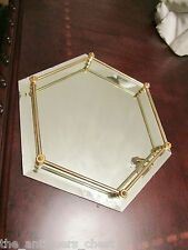 """Tabletop Mirror vanity tray and brass 12""""[*]"""