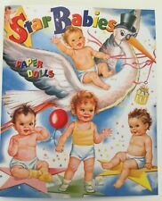 Star Babies Paper Dolls - 9 sweet babies-adorable outfits - Merrill reproduction