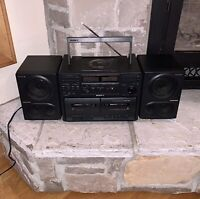 SONY Japan Made CFD-470 Mega Bass Stereo Boombox CD Cassette Tape Player Radio
