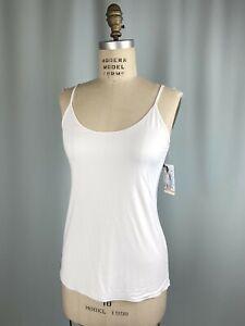 NEW NWT camisole JOCKEY SIZE XL Silky microfiber stretch smooth WHITE