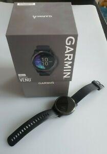 Garmin Venu - Montre connectée GPS - Gunmetal / Noir