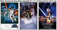 3er-Set Star Wars Set Classic Episode IV + V + VI Poster 61x91,5 cm
