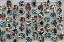 Wholesale Jewelry Lots 32pcs Charming Rhinestone Glass Women Lady's Party Rings