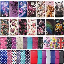 Flip Wallet Leather Cover Case for Apple iPhone 4S 5 5S SE 6 6S 7 & Plus Models