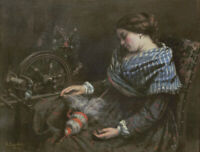 The Sleeping Embroiderer Gustave Courbet Wall Art Print on Canvas Reproduction S