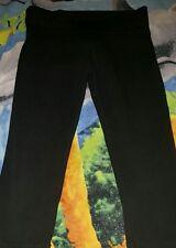 VICTORIA SECRET PINK Womens Capri Yoga Pants Black Size XS XSMALL
