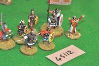 28mm dark age / late roman - saga command group 8 figures - (45112)