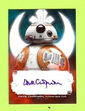 2017 STAR WARS LAST JEDI DAVE CHAPMAN AUTOGRAPH AUTO - PUPPETEER FOR BB-8 #28/99
