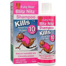 Euky Bear Blitz Nits Shampoo 250ML Clinically proven to kill head lice and eggs