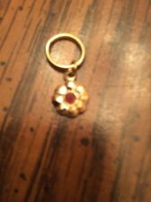 Dawn Doll, Gold Bracelet, Shaped Like Flower w/ Red Stone. Very Good Condition