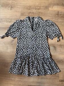 Rebecca Taylor Black Floral Dress NWOT Size M