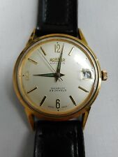 "vintage watch Roamer Rotodate Incabloc 23 jewels swiss wind up working 1.5"" face"