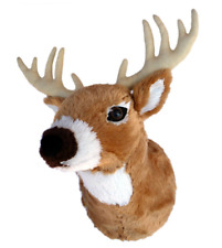 DEER Plush WALL MOUNT for Nursery Guest Room Cottage Stuffed Animal Baby Child