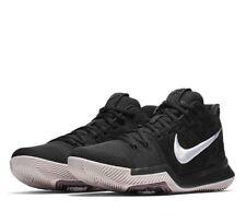 b9e1ea6f0601 Nike Kyrie 3 Suede Mens Basketball Shoes 11.5 Black White Silt Red 852395  010