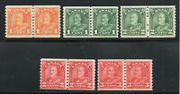 Canada - Unitrade # 178 - 181 + 183 MH/MNH (178&183 MH) Coil Pairs - Lot 1219093