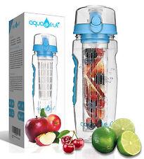 AquaFrut 32oz Fruit Infuser Water Bottle (Blue) with Bonus Brush! USA Seller!