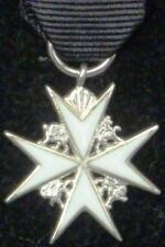 ORDER OF ST.JOHN OF JERUSALEM  SERVING OFFICER - A SUPERB SILVER  MINIATURE