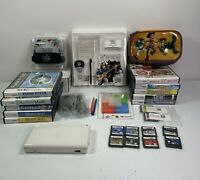 Nintendo DS Lite White Handheld Console Bundle With 20 Games Charger & GH Grip
