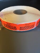 Barbecue Labels 1000 Per Roll Great Stickers