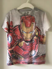 """ZARA Kurzarm T-Shirt """"DC Marvel Comics Avengers Ironman"""" Gr. 4/5 110/116 weiß"""