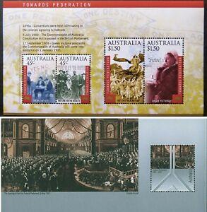 2000-2001 Australian Federation Mini-Sheet Stamps Pair Centenary Commemoratives